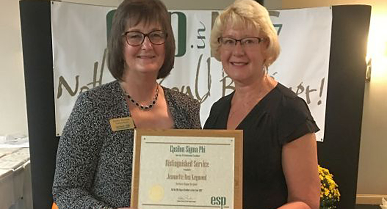 RCE Professionals Receive National Awards at Epsilon Sigma Phi Conference: Jeannette Rea Keywood received the Distinguished Service Award for the Northeast Region and Robin Brumfield was recognized with the International Service Award also for the Northeast Region.